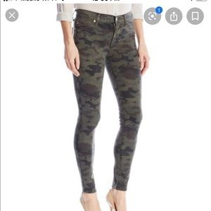 Hudson Nico Ankle Super Skinny Camo Jeans Sz 28